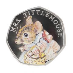 Beatrix Potter Mrs Tittlemouse 2018 Silver Proof 50p Coin