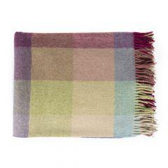 National Trust Herringbone Block Pastel Wool Throw