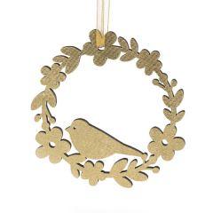 Floral Wreath Decoration, Gold