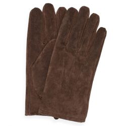 Men's Suede Gloves, Brown, L-XL