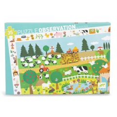 35 Piece Jigsaw, Farm Puzzle Observation