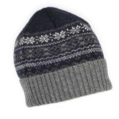 National Trust Fairisle Knit Hat, Navy