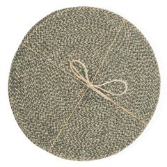 Jute Placemats, Olive Green, Set of 4