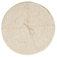 Jute Placemats, Pearl White/Natural, Set of 4