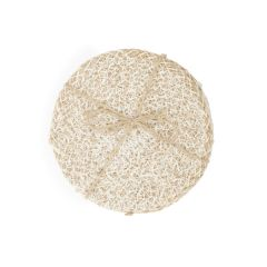 Jute Coasters, Pearl White/Natural, Set of 4