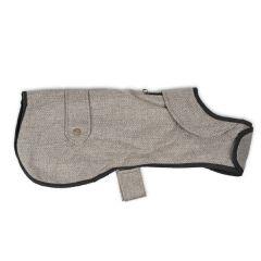 Brown Herringbone Dog Coat