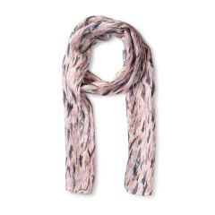 National Trust Silk Scarf, Sissinghurst Wetland Grass, Cream/Pink