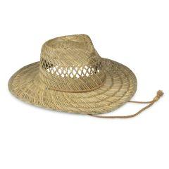 Men's Straw Wide Brim Hat with Rope Tie