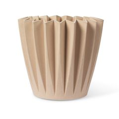 Plastic Free Fluted Plant Pot, Blush Pink