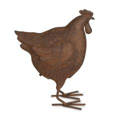 Small Rustic Hen Sculpture