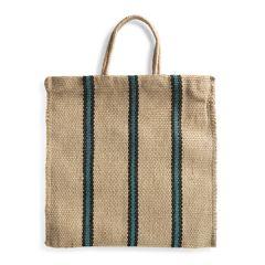 Turtle Bags Green/Black Stripey Bag