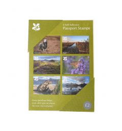 National Trust Green Visitor's Passport Stamps, Set of 6