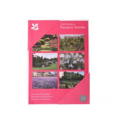 National Trust Pink Visitor's Passport Stamps, Set of 6