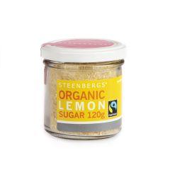 Organic Fairtrade Lemon Sugar, 120g