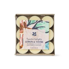 National Trust Lemon and Thyme Fragranced Tealights, Set of 9