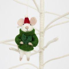 Mouse Santa Tree Decoration