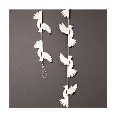 Paper Dove Garland, White