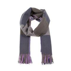 Woven Check Scarf, Purple