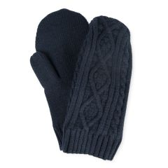 Knitted Glove Mittens, Navy