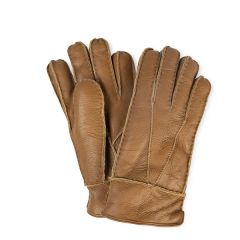Men's Sheepskin Gloves, Brown
