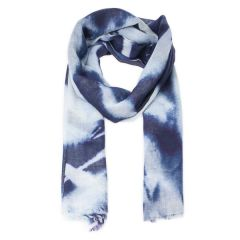 Blickling River Grass Scarf, Blue