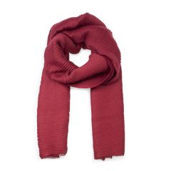 Soft Pleated Scarf, Red