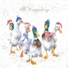 All Wrapped Up Geese Christmas Cards, Pack of 8