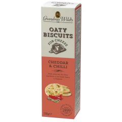 Oaty Biscuits for Cheese, Cheddar and Chilli, 130g