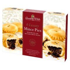 Luxury Deep Brandy Mince Pies, Pack of 6