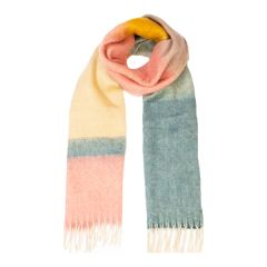 Colour Block Scarf, Candy/Ice