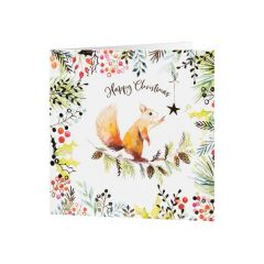 National Trust Squirrel and Star Christmas Cards, Pack of 10