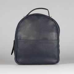National Trust Leather Backpack, Navy