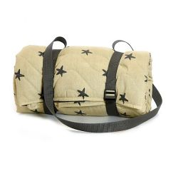 Quilted Cotton Star Picnic Rug with Waterproof Back