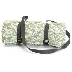 Quilted Cotton Palm Leaf Picnic Rug with Waterproof Back