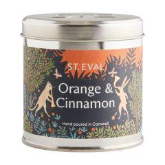 St Eval Orange and Cinnamon Tin Candle