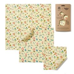 National Trust Summer Blooms Print Beeswax Wraps 3 Combo