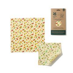 National Trust Autumn Leaves Print Vegan Wax Wraps 2 Combo