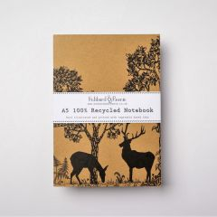 A5 Recycled Woodland Notebook UK Made