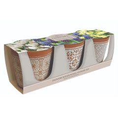 Ceramic Flower Pot Set