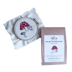 Toadstool Embroidery Kit