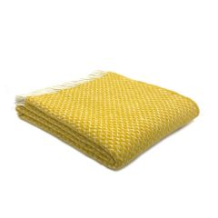 National Trust Wool Throw, Diamond Yellow