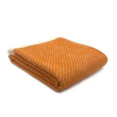 National Trust Wool Throw, Diamond Pumpkin