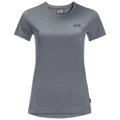 National Trust Jack Wolfskin Women's Belton T-Shirt, Pebble Grey