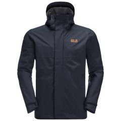 National Trust Jack Wolfskin Men's Cragside Jacket, Midnight Blue