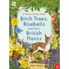 National Trust Birch Trees, Bluebells and Other British Plants Nature Sticker Book
