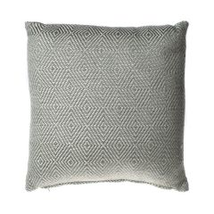 Weaver Green Dove Grey Diamond Weave Cushion