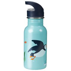 Frugi and National Trust Splish Splash Water Bottle, Paddling Puffins