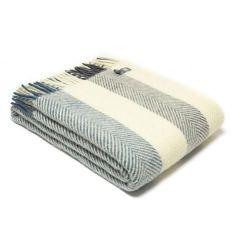 Multi Colour Wide Stripe Fishbone Rug