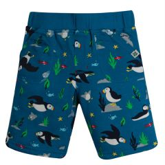 Frugi and National Trust Reversible Shorts, Paddling Puffins