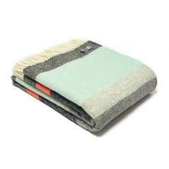 Pure New Wool Grey Stripes Throw